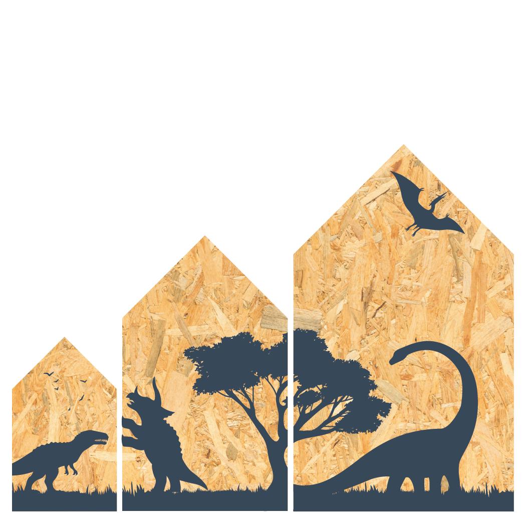 Dino huisjes set