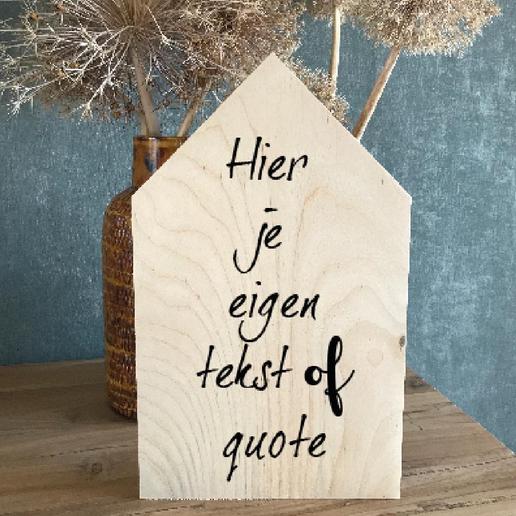 Houten Huisje Gepersonaliseerd
