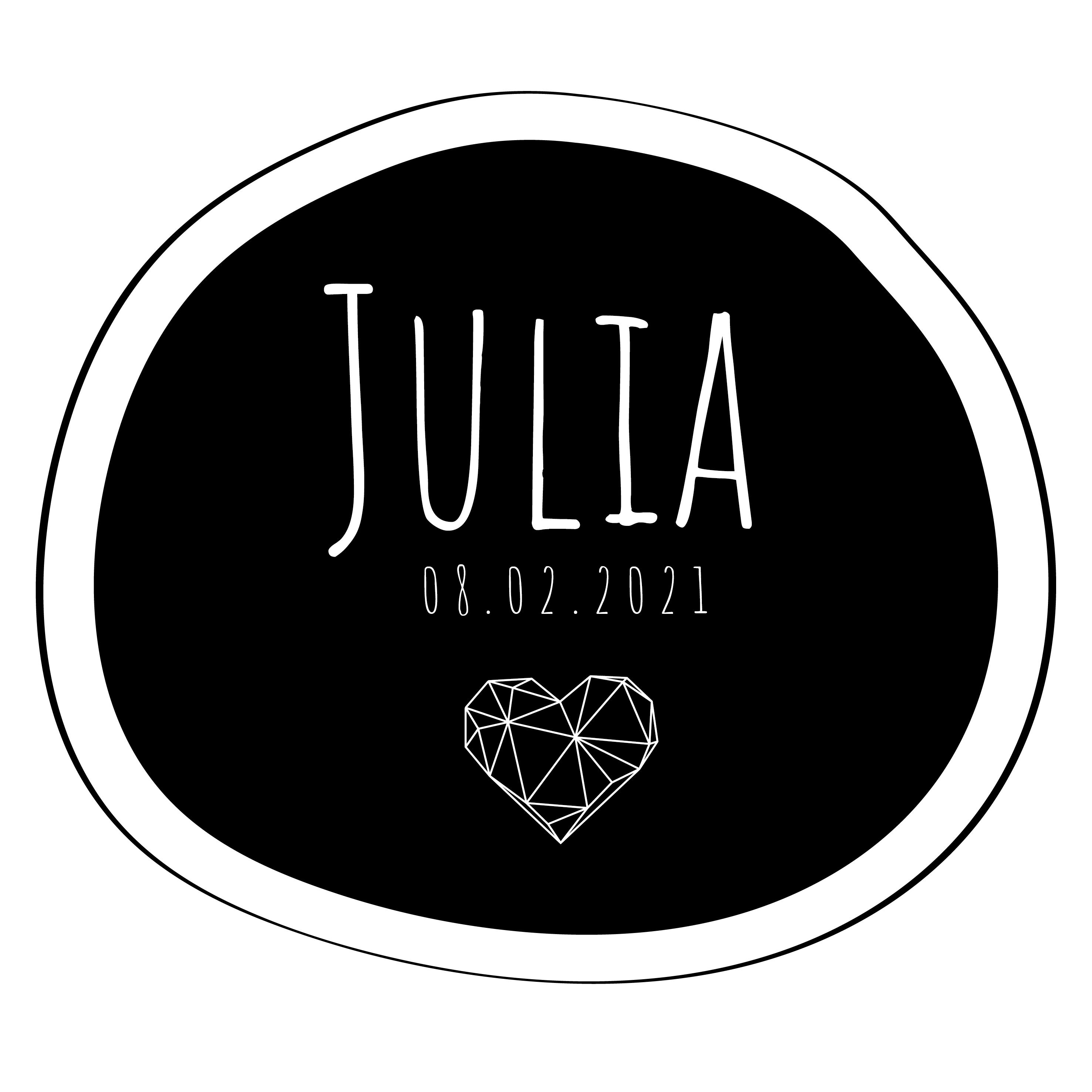 Julia geboortesticker