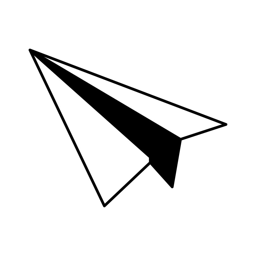 Papieren vliegtuigje